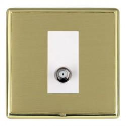 Hamilton Linea-Rondo CFX Polished Brass/Satin Brass 1 Gang Non Isolated Satellite with White Insert