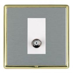 Hamilton Linea-Rondo CFX Polished Brass/Satin Steel 1 Gang Non Isolated Satellite with White Insert