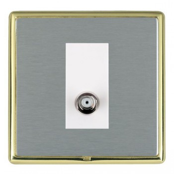 Hamilton Linea-Rondo CFX Polished Brass/Satin Steel 1 Gang Non Isolated Satellite with White Insert