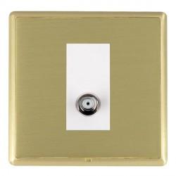 Hamilton Linea-Rondo CFX Satin Brass/Satin Brass 1 Gang Non Isolated Satellite with White Insert