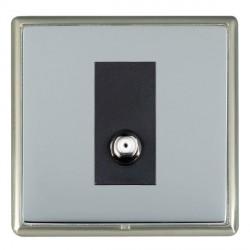 Hamilton Linea-Rondo CFX Satin Nickel/Bright Steel 1 Gang Non Isolated Satellite with Black Insert
