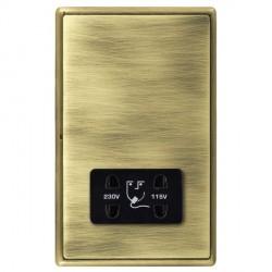 Hamilton Linea-Rondo CFX Antique Brass/Antique Brass Shaver Socket Dual Voltage with Black Insert