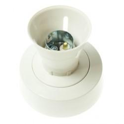 BG White Plastic Enclosed Batten Holder