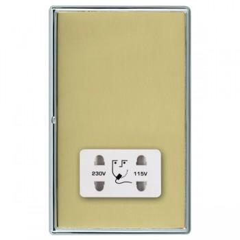Hamilton Linea-Rondo CFX Bright Chrome/Polished Brass Shaver Socket Dual Voltage with White Insert