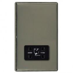 Hamilton Linea-Rondo CFX Black Nickel/Black Nickel Shaver Socket Dual Voltage with Black Insert