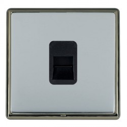 Hamilton Linea-Rondo CFX Black Nickel/Bright Steel 1 Gang Telephone Master with Black Insert