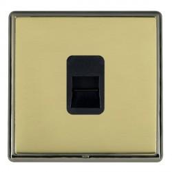 Hamilton Linea-Rondo CFX Black Nickel/Polished Brass 1 Gang Telephone Master with Black Insert