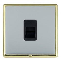 Hamilton Linea-Rondo CFX Polished Brass/Bright Steel 1 Gang Telephone Master with Black Insert