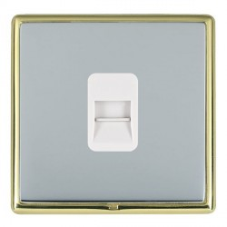 Hamilton Linea-Rondo CFX Polished Brass/Bright Steel 1 Gang Telephone Master with White Insert