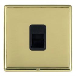 Hamilton Linea-Rondo CFX Polished Brass/Polished Brass 1 Gang Telephone Master with Black Insert