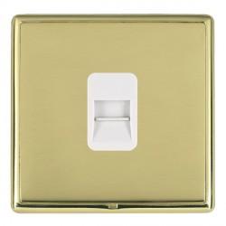 Hamilton Linea-Rondo CFX Polished Brass/Polished Brass 1 Gang Telephone Master with White Insert