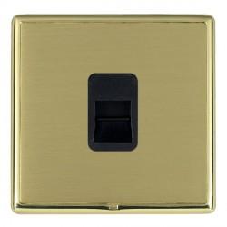 Hamilton Linea-Rondo CFX Polished Brass/Satin Brass 1 Gang Telephone Master with Black Insert