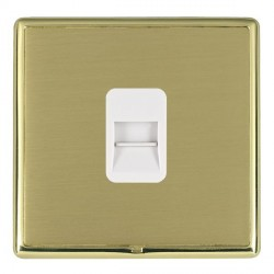 Hamilton Linea-Rondo CFX Polished Brass/Satin Brass 1 Gang Telephone Master with White Insert