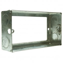 Appleby 35mm Double Flushed Metal Extension Box