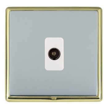 Hamilton Linea-Rondo CFX Polished Brass/Bright Steel 1 Gang Isolated Television with White Insert