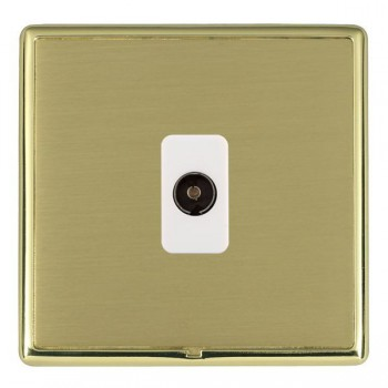 Hamilton Linea-Rondo CFX Polished Brass/Satin Brass 1 Gang Isolated Television with White Insert