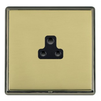 Hamilton Linea-Rondo CFX Black Nickel/Polished Brass 1 Gang 2A Unswitched Socket with Black Insert