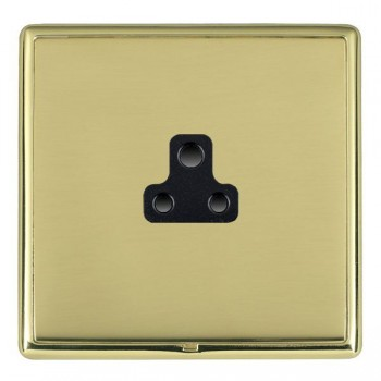 Hamilton Linea-Rondo CFX Polished Brass/Polished Brass 1 Gang 2A Unswitched Socket with Black Insert