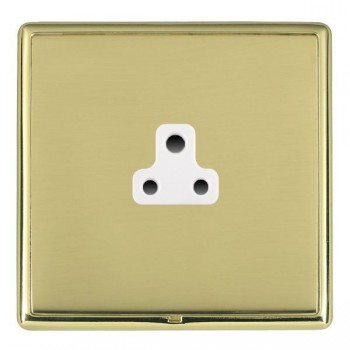 Hamilton Linea-Rondo CFX Polished Brass/Polished Brass 1 Gang 2A Unswitched Socket with White Insert