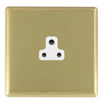 Hamilton Linea-Rondo CFX Satin Brass/Satin Brass 1 Gang 2A Unswitched Socket with White Insert