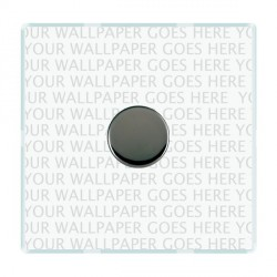 Hamilton Perception Clear Push On/Off Dimmer 1 Gang 2 way Inductive 300VA with Black Nickel Insert
