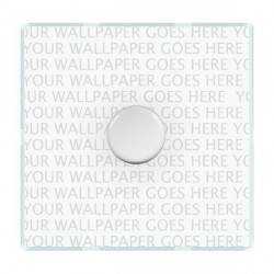 Hamilton Perception Clear Push On/Off Dimmer 1 Gang 2 way Inductive 300VA with White Insert