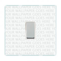 Hamilton Perception Clear 1 Gang Multi way Touch Master Trailing Edge with White Insert