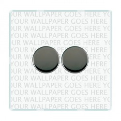 Hamilton Perception Clear Push On/Off Dimmer 2 Gang 2 way 400W with Black Nickel Insert