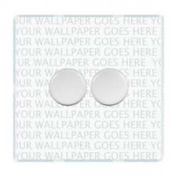 Hamilton Perception Clear Push On/Off Dimmer 2 Gang 2 way 400W with White Insert