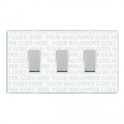 Hamilton Perception Clear 3 Gang Multi way Touch Slave Trailing Edge with White Insert