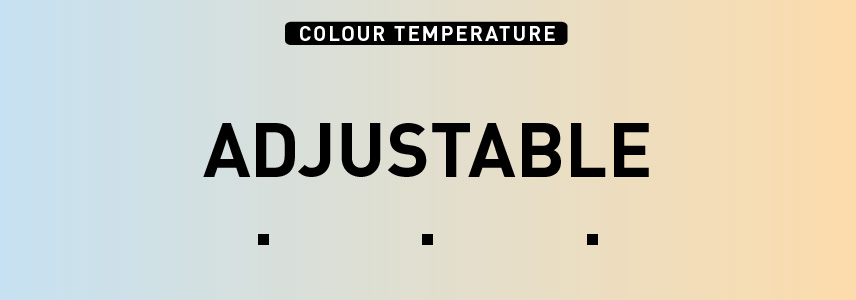 Colour temperature: adjustable