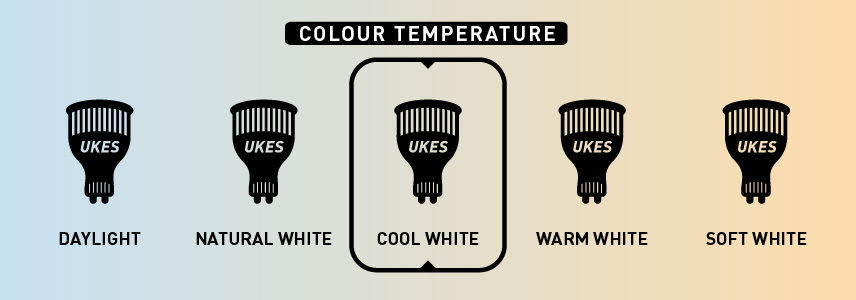 Colour temperature: cool white