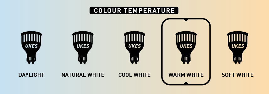 Colour temperature: warm white